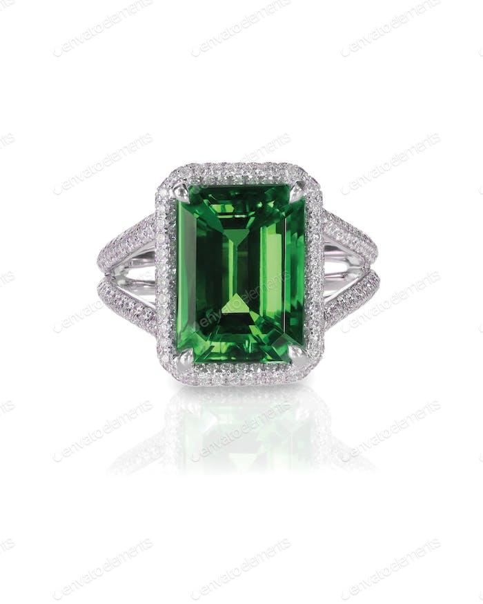 green emerald fashion bridal engagement diamond ring band