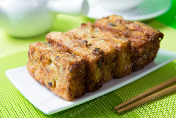 Deep fried pumpkin rice cake