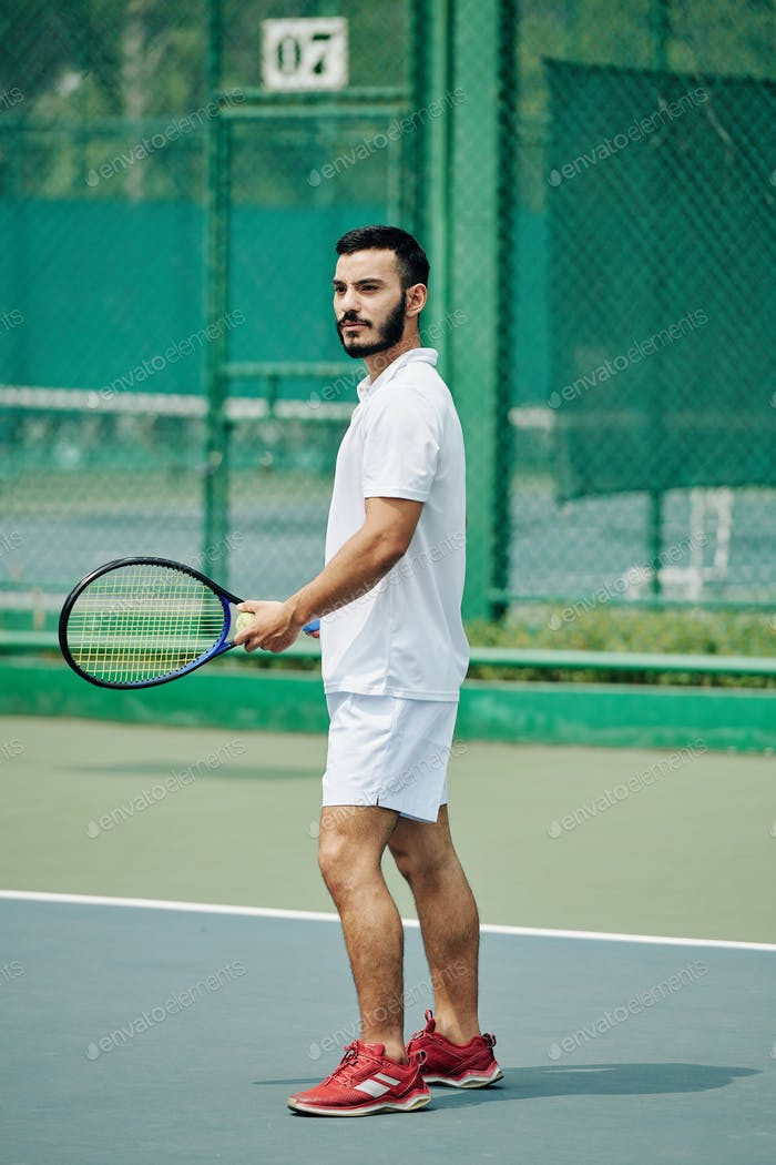 Young Hispanic tennis player