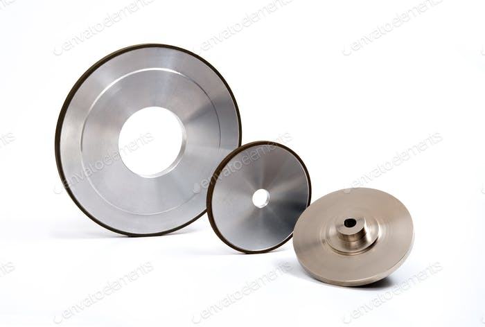 Grinding and polishing wheels set