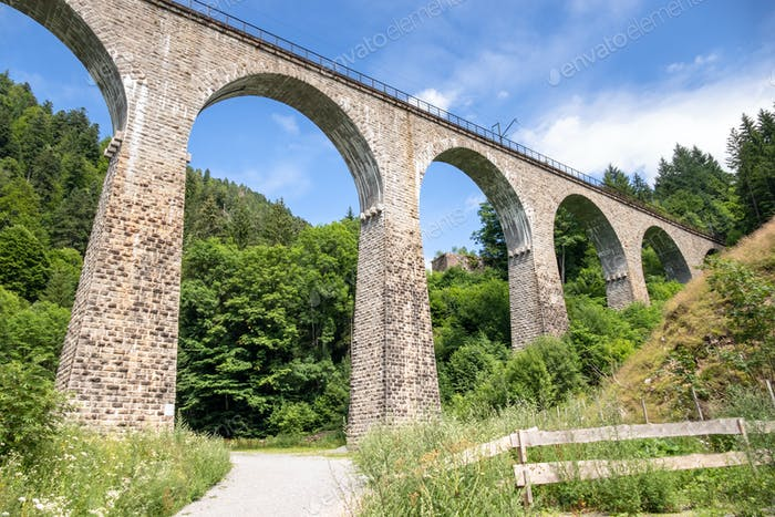 the Ravenna Bridge railway viaduct on the Höllental Railway lin