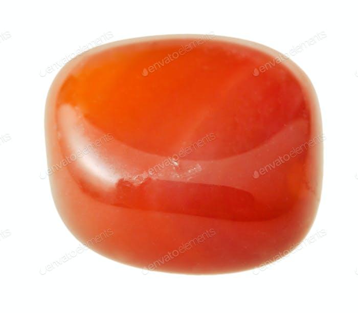 carnelian (cornelian, sard) gemstone isolated