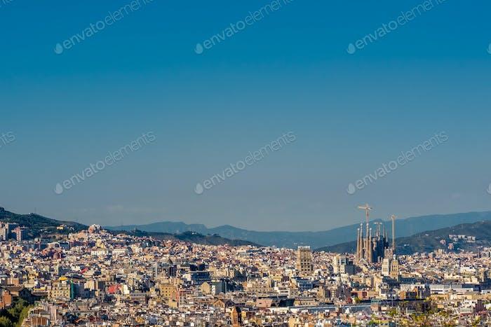 Vista panorámica del paisaje urbano de Barcelona