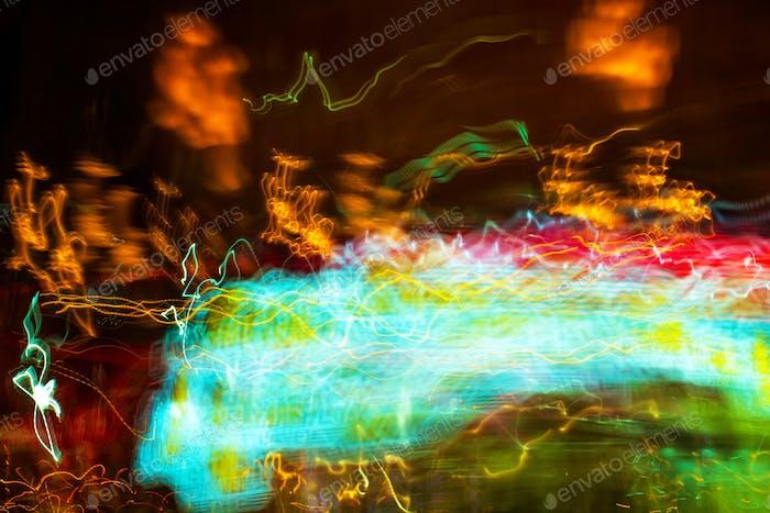 Ampelfarbe mit langer Belichtung