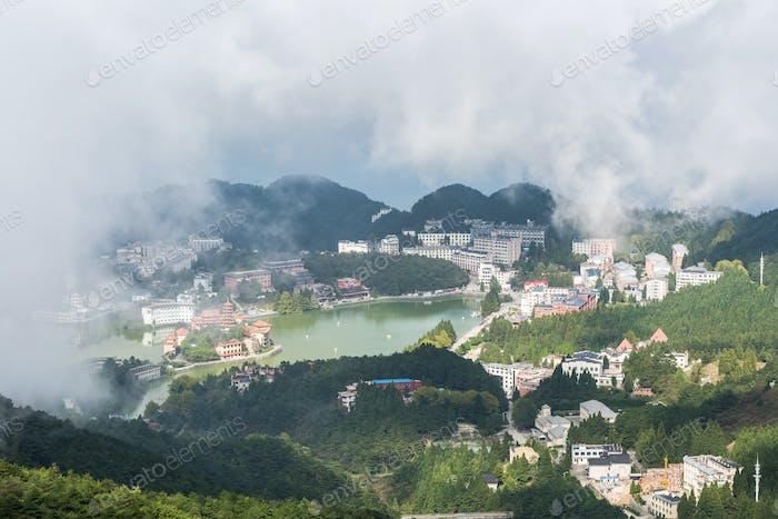 Luftaufnahme des Wolkensees