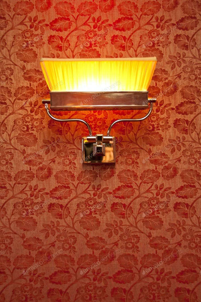 Vintage night lamp on the wall