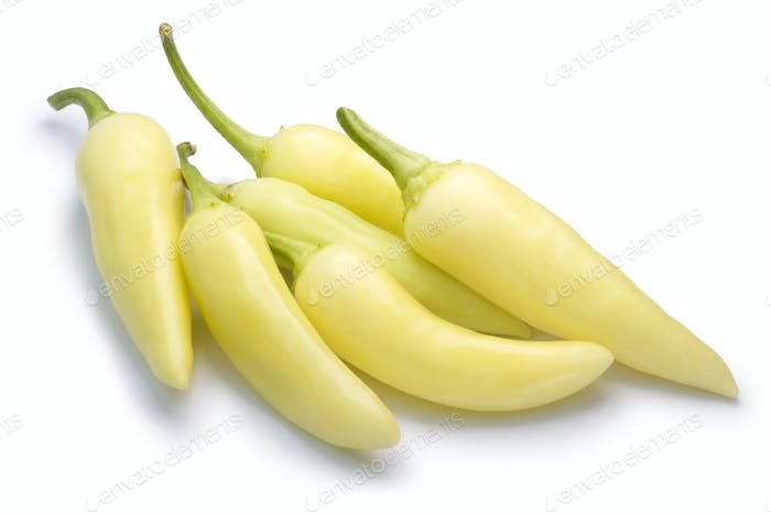 Banana peppers chiles c. annuum, pile, paths