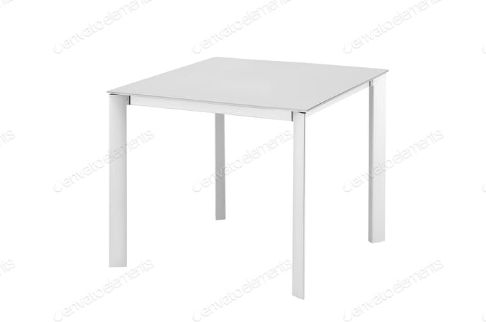 White table isolated on white