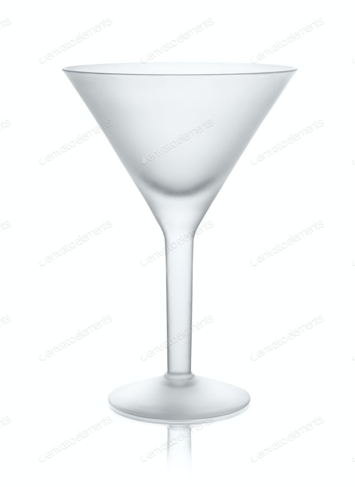 Empty matt martini glass