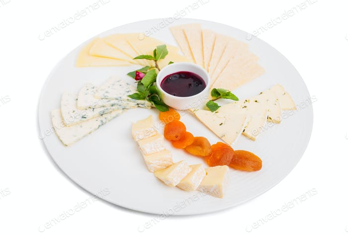Delicious italian cheeses platter.