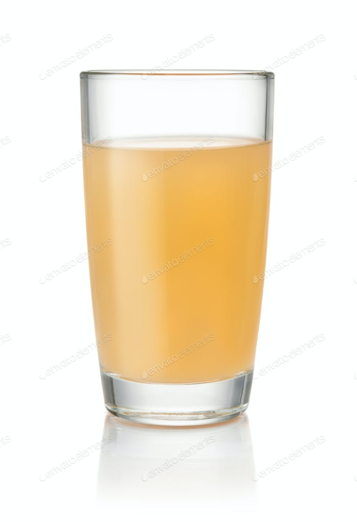 Glass of homemade apple juice