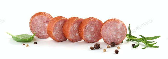 sliced smoked sausage