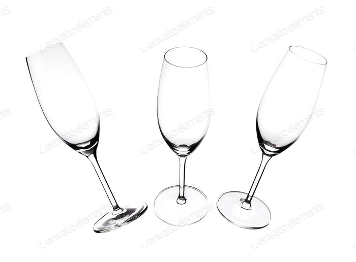 Silhouettes of champagne glasses.