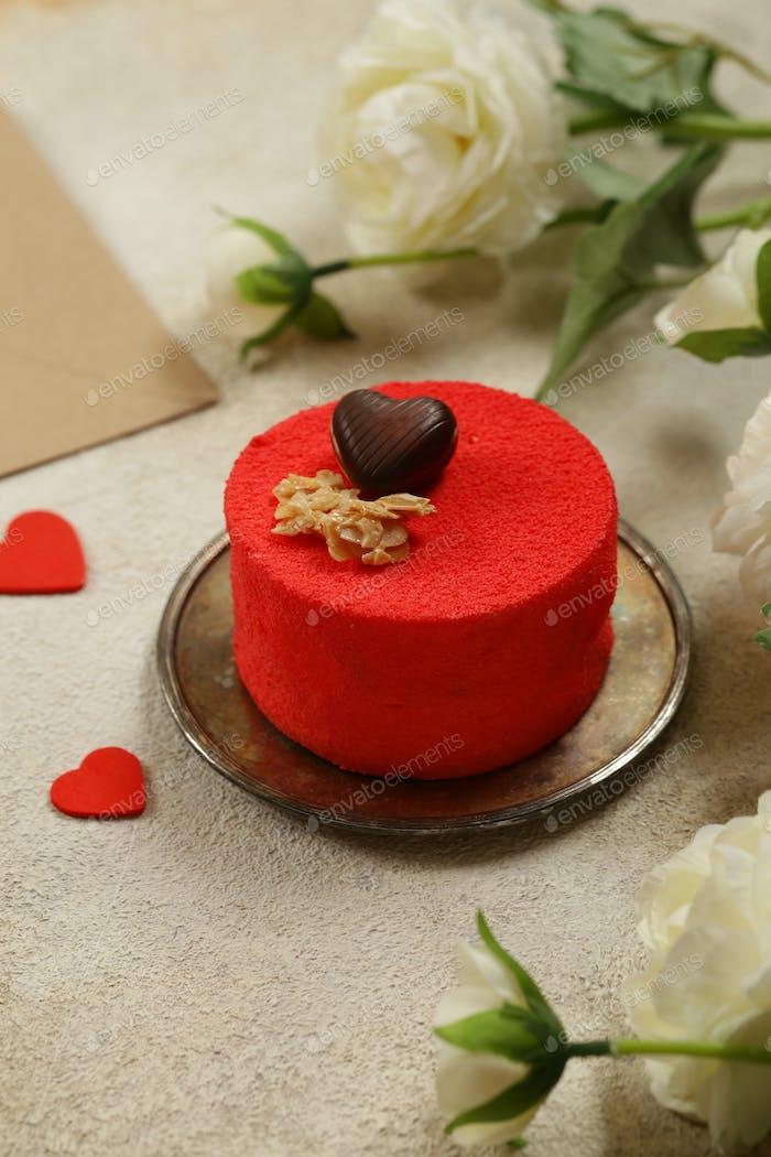 Red Velvet Cake for Valentines Day