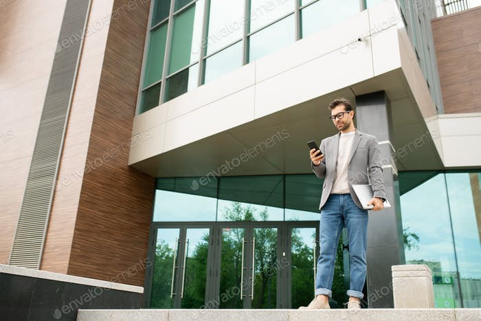 Texting by office center