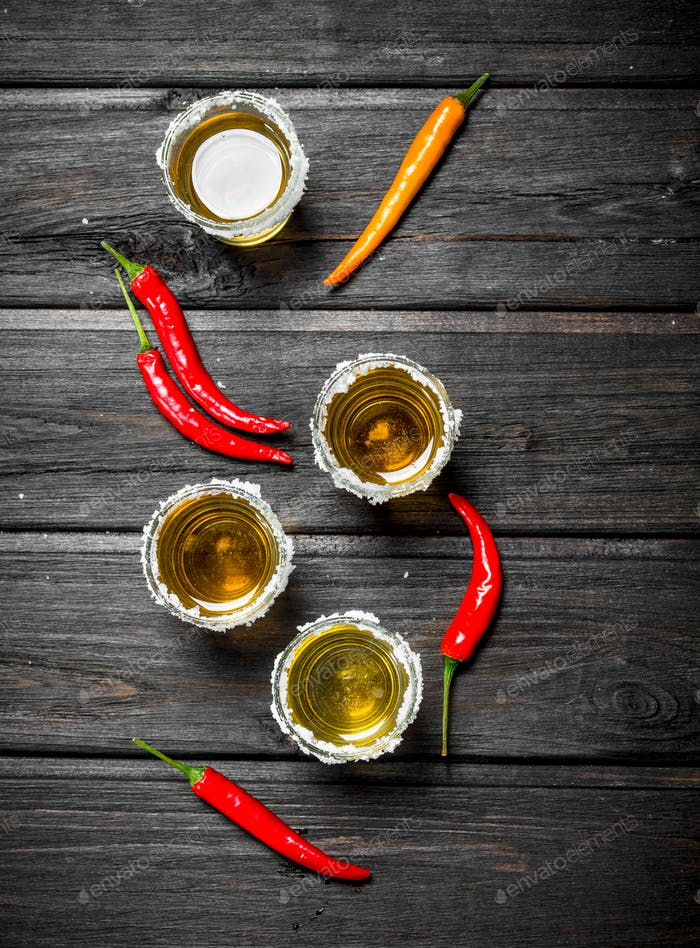 Tequila and chili.