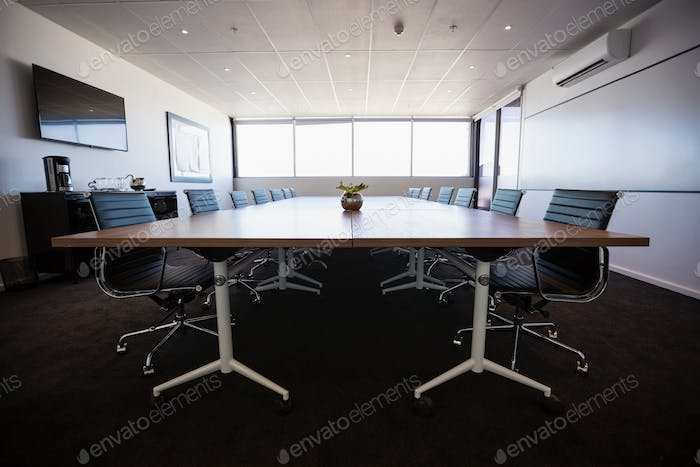 Empty modern meeting room