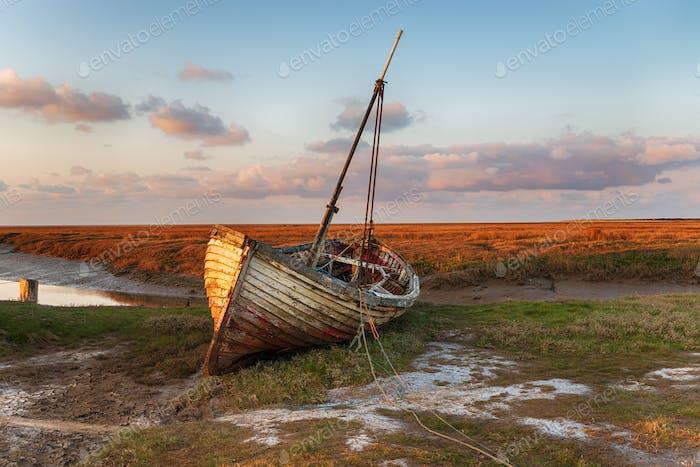 Fishing Boat at Thornham in Norfolk