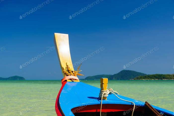 Long-tail boats at Rawai beach on southern tip of Phuket southern