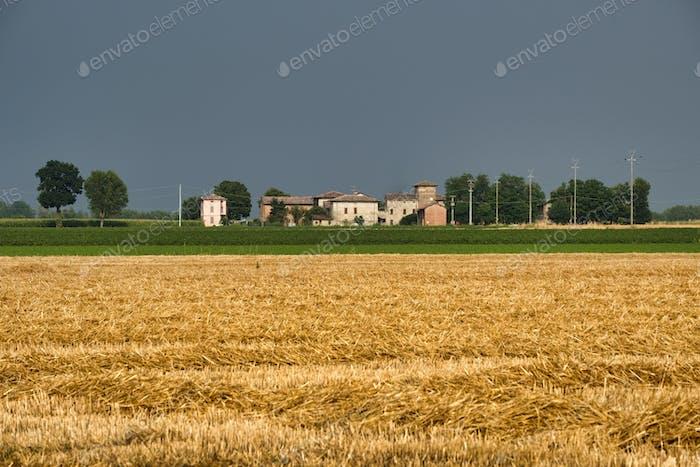 Country landscape near Fiorenzuola (Piacenza, Italy)