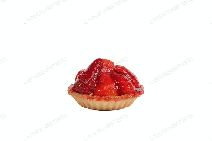 Individual strawberry tart