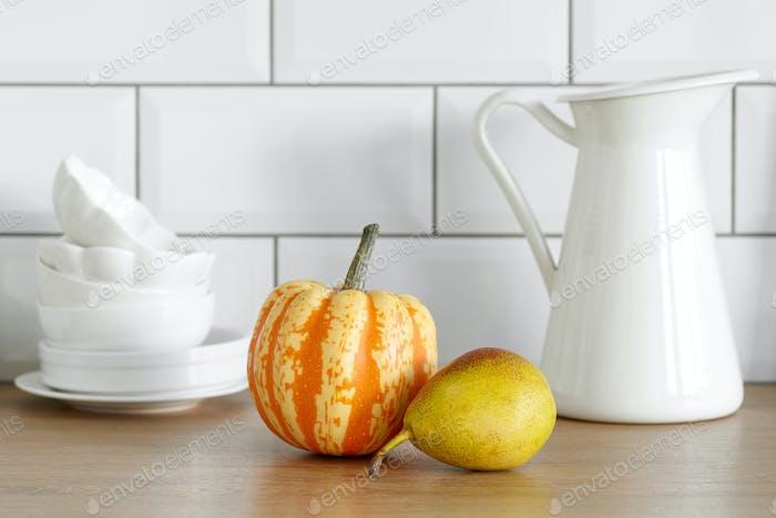 pumpkin and pear