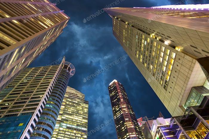 Wolkenkratzer. Singapur