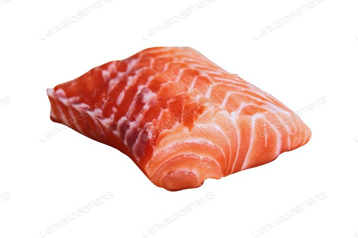 salmon fillet isolated on white