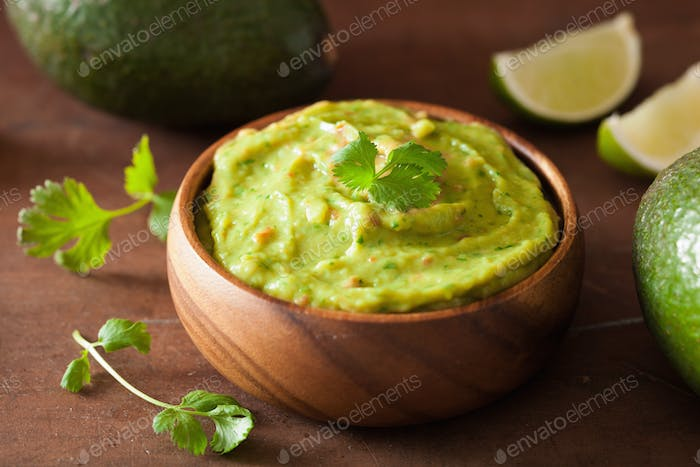 mexican guacamole dip healthy food