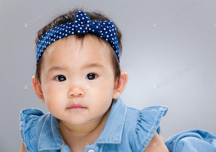 Baby girl close up