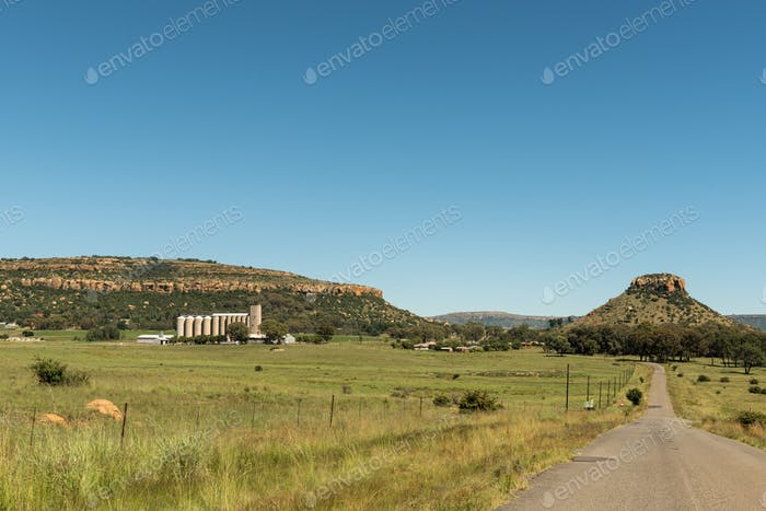 View of Modderpoort near Ladybrand in the Eastern Free State