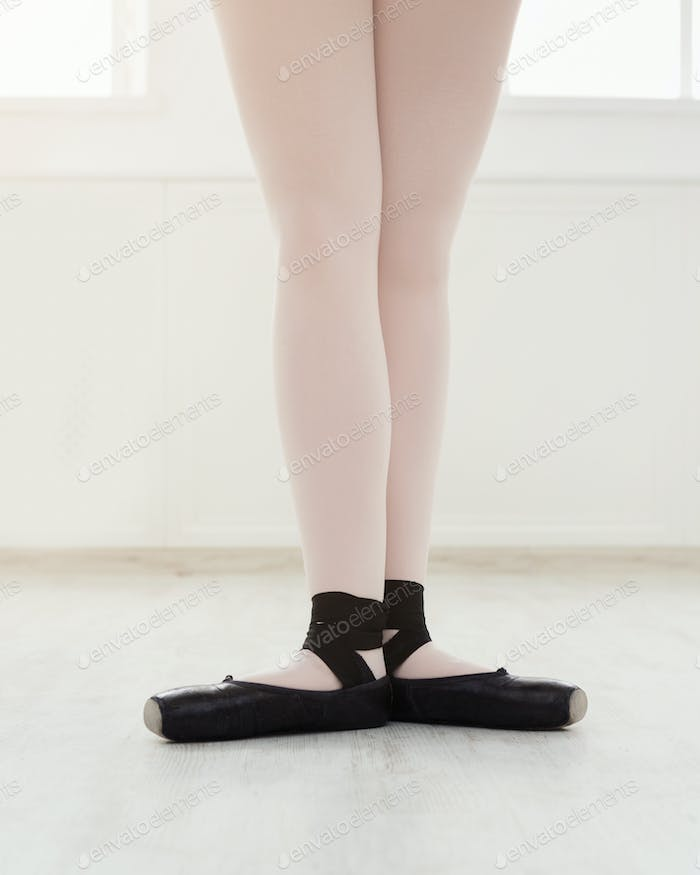 Ballerina legs in first position