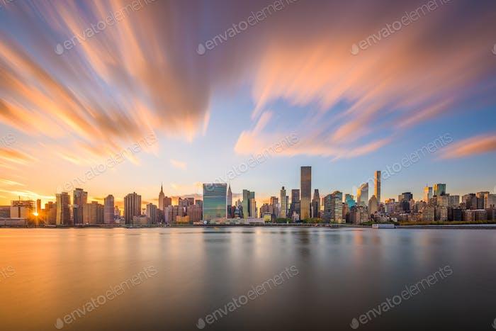 New York City East River Skyline