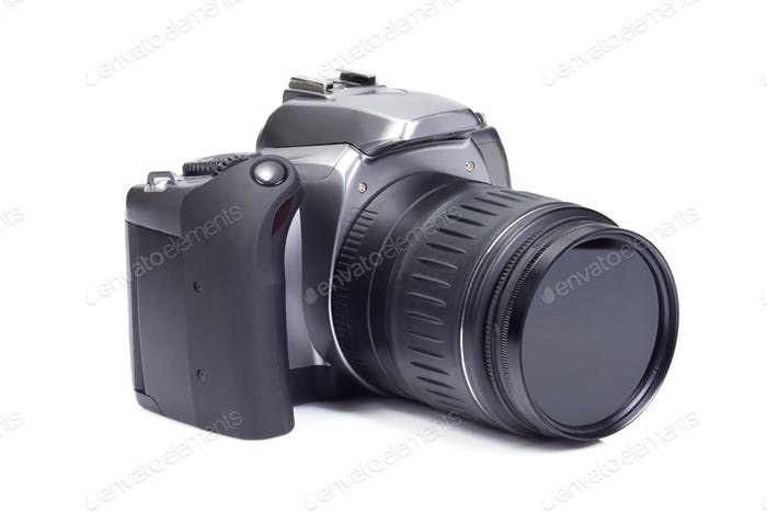 photo camera on white