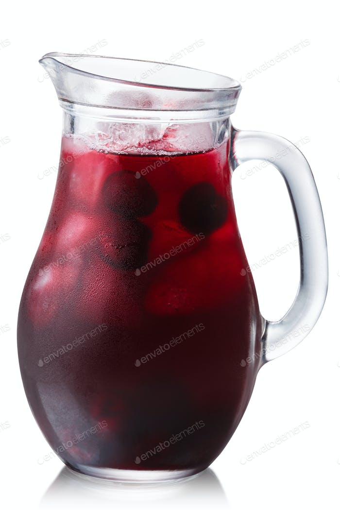 Iced cherry drink jug, paths