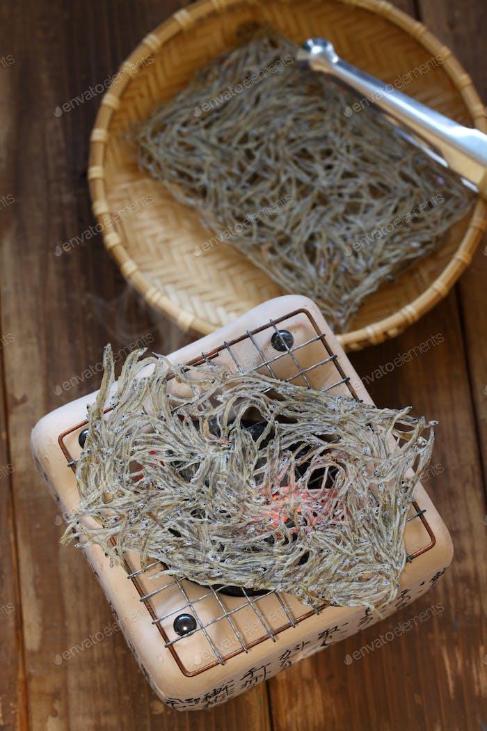 Tatami iwashi is a Japanese food made from baby sardines.