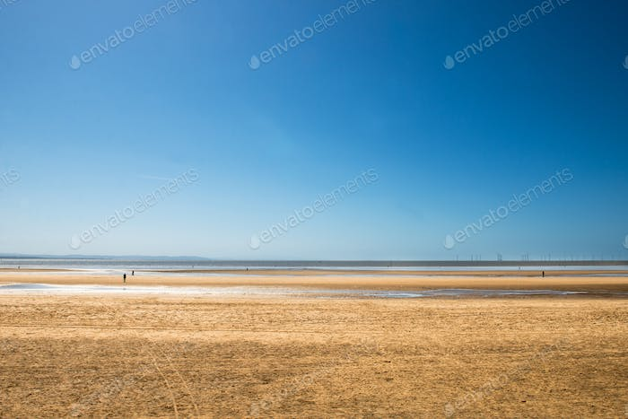 Crosby Beach near Liverpool, UK,