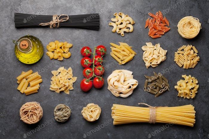 Verschiedene Pasta