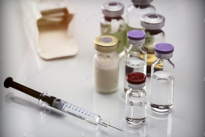 Medicine In Vials, Ready For Vaccine Injection photo by ...