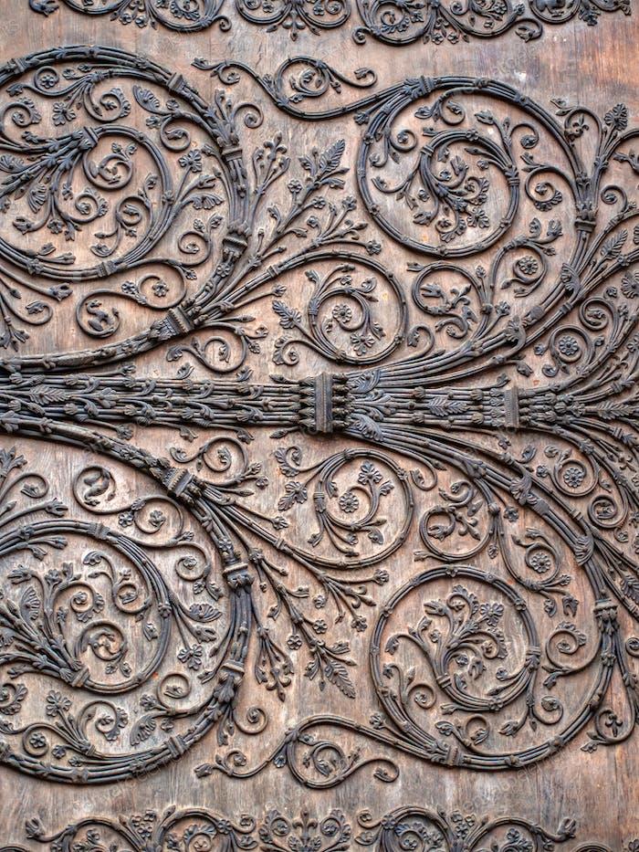 Main entrance door of Notre dame de Paris