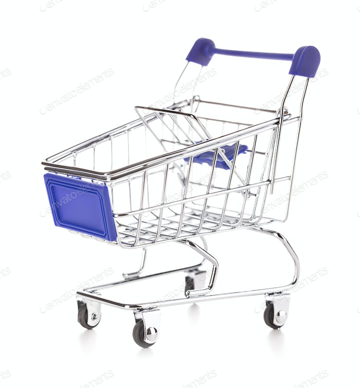 Shopping cart isolated on white background.