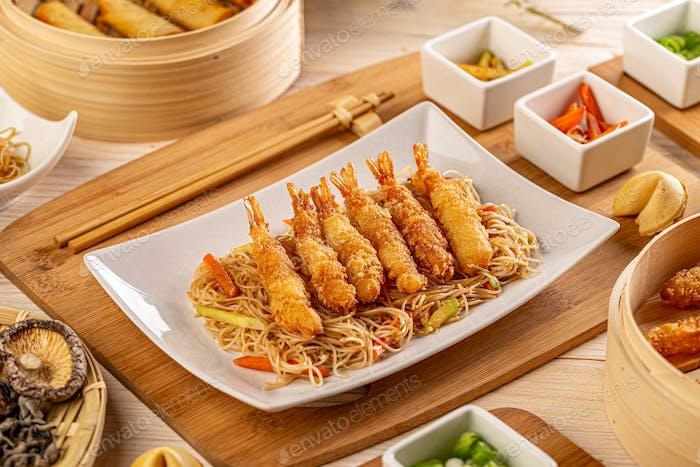 Leckere Shrimps-Tempura