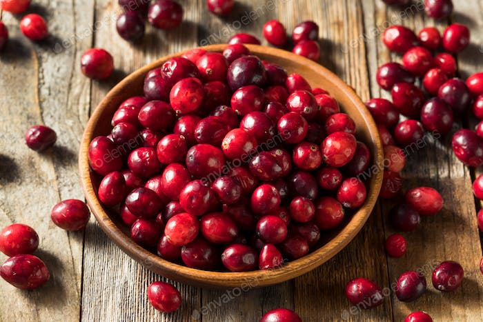 Raw Red Organic Cranberries