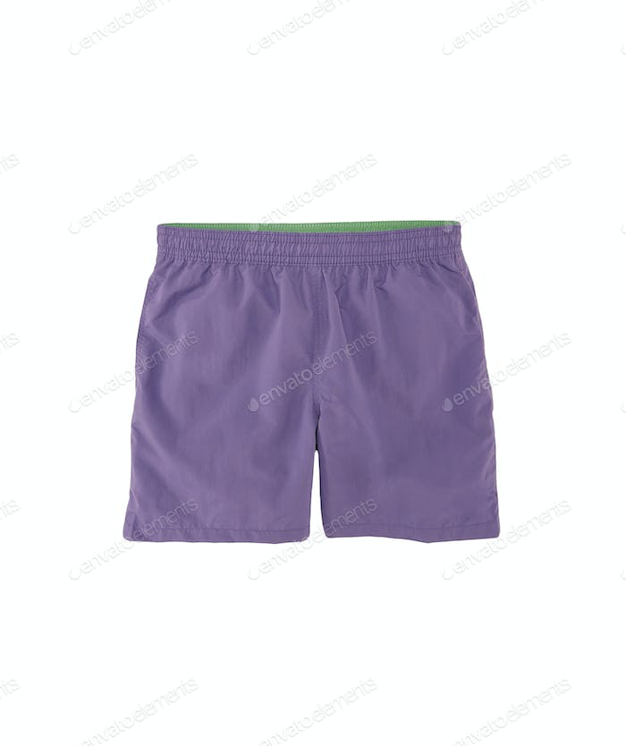 training shorts isolated on white background