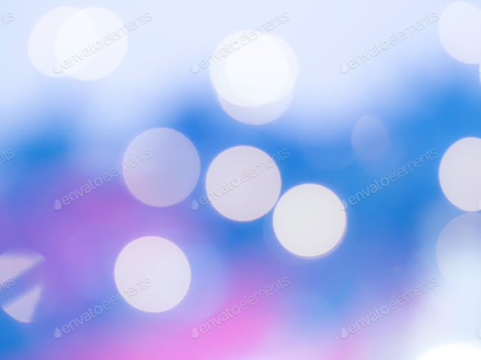 Christmas tree blur abstract background. Classic blue