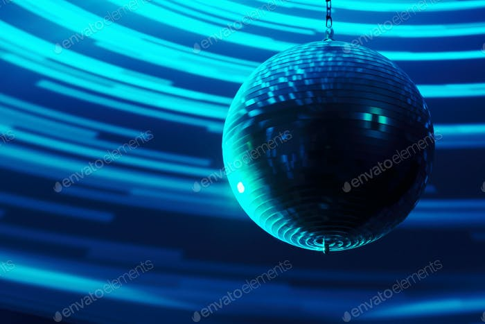 Blurred disco ball background closeup