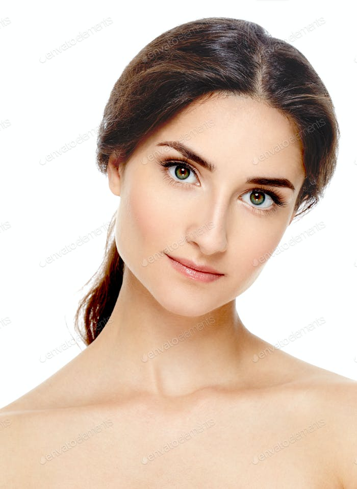 Beautiful woman make up casual dayly cosmetic skin care concept