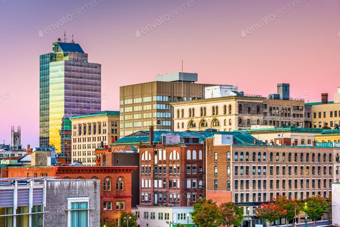 Worcester, Massachusetts, USA Skyline