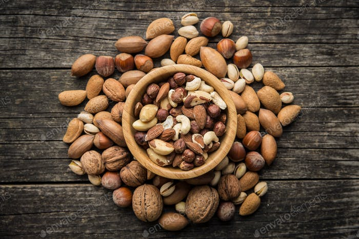Thumbnail for Different types of nuts.