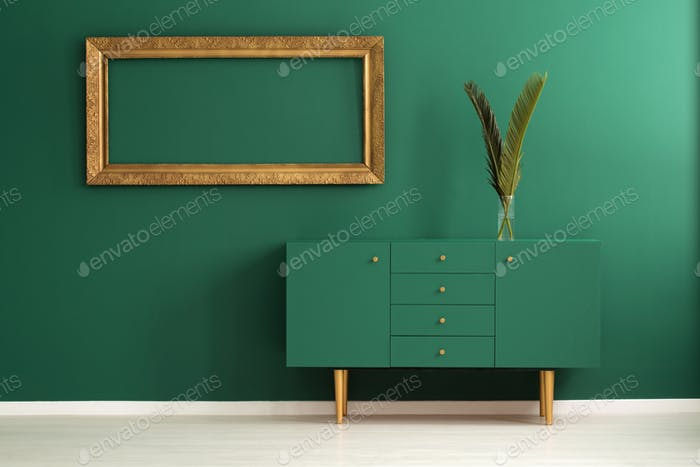 Green and gold interior